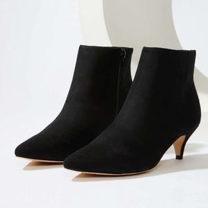 NWT LOFT Black Kitten Heel Pointed Toe Booties
